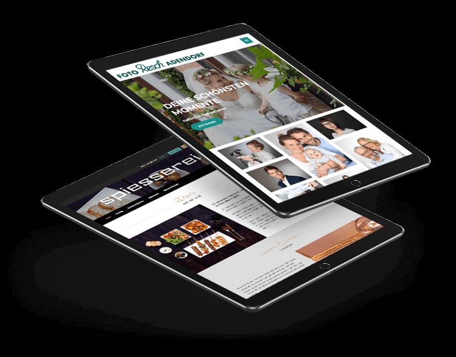 zwei iPads mit responsive Webdesign